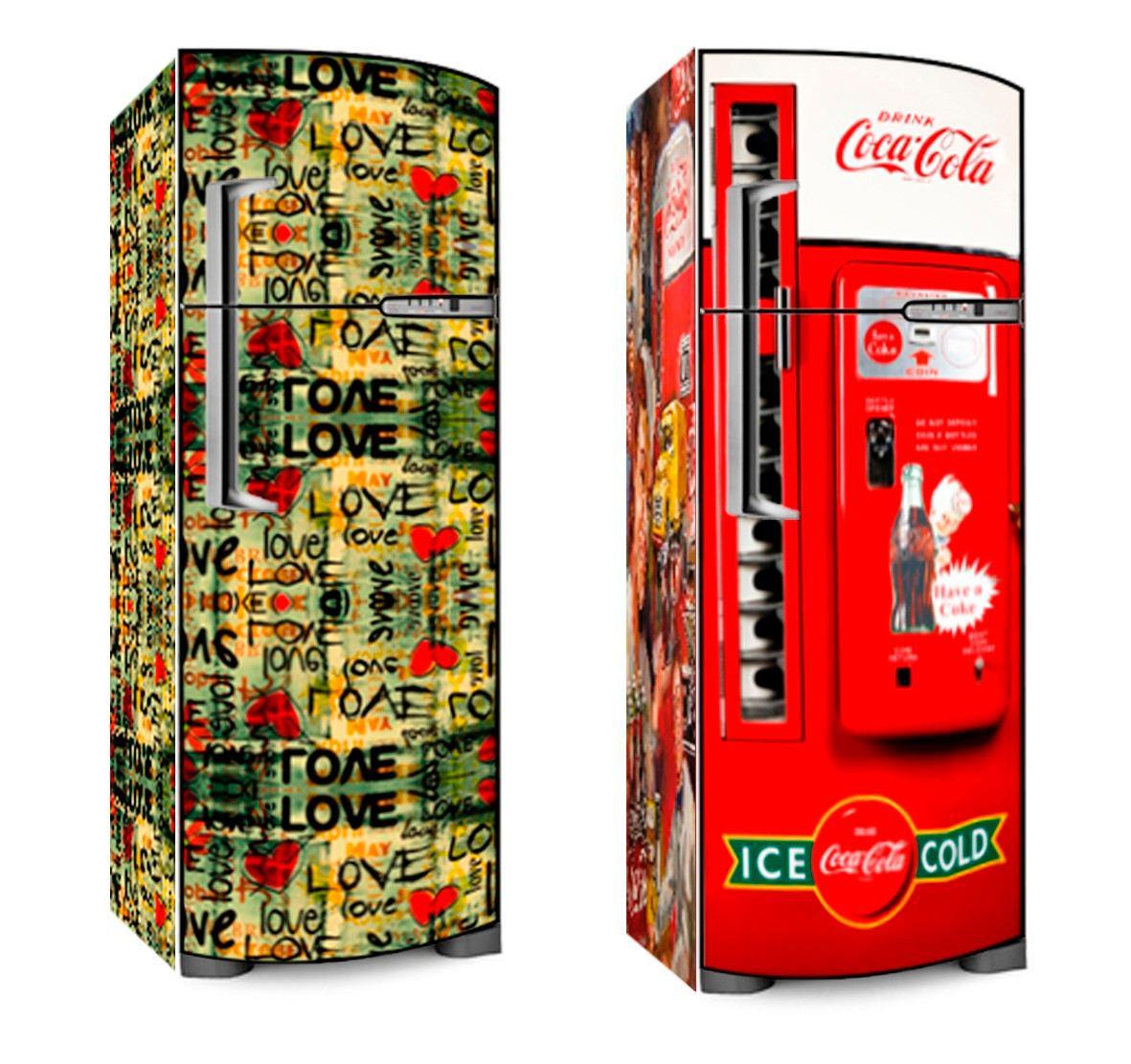 Armario Planejado Para Cozinha Pequena ~ Adesivo De Geladeira P Envelopamento Frente E Laterais R$ 209,90 em Mercado Livre