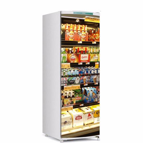 Aparador Mdf Pintado ~ Adesivo De Geladeira Prateleira De Cerveja Supermercado M R$ 65,00 em Mercado Livre