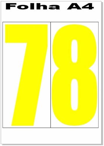 adesivo de número ou letras ou frases na medida 10x22cm