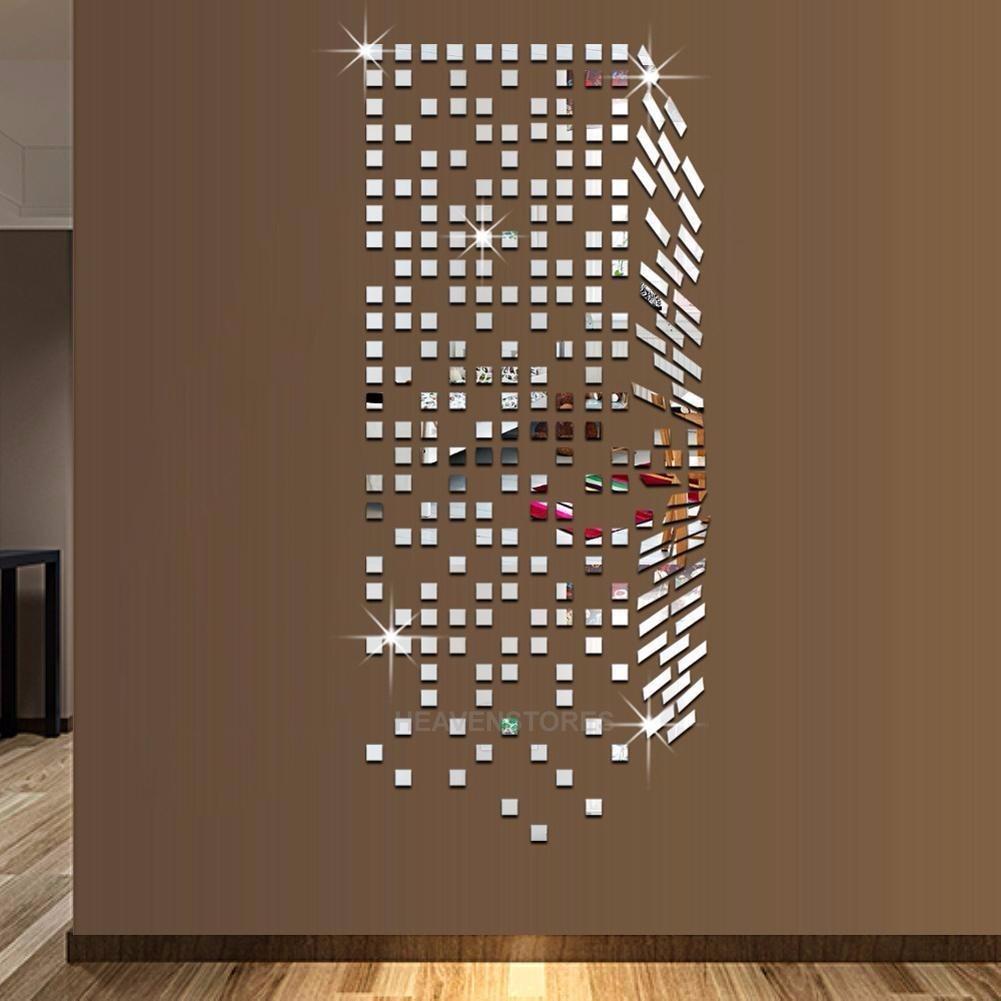 Adesivo de parede 3d espelhado mosaico r 38 00 em for Mosaico adesivo 3d