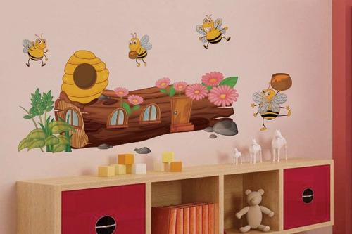 adesivo de parede abelinhas - mudo minha casa