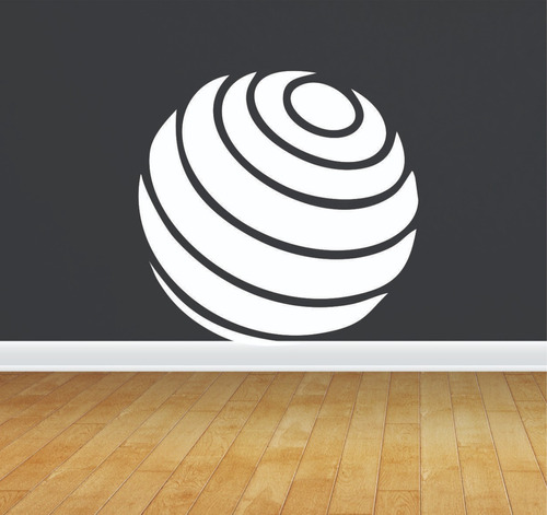 adesivo de parede academia bola pilates 50x50 cm