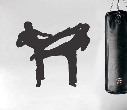 adesivo de parede academia luta arte marcial kimono 65x58cm