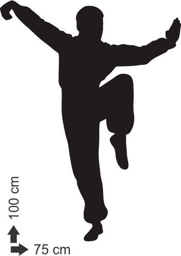 adesivo de parede academia luta arte marcial kimono capoeira