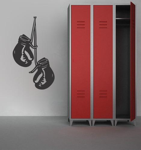 adesivo de parede academia luta arte marcial luva 70x40 cm