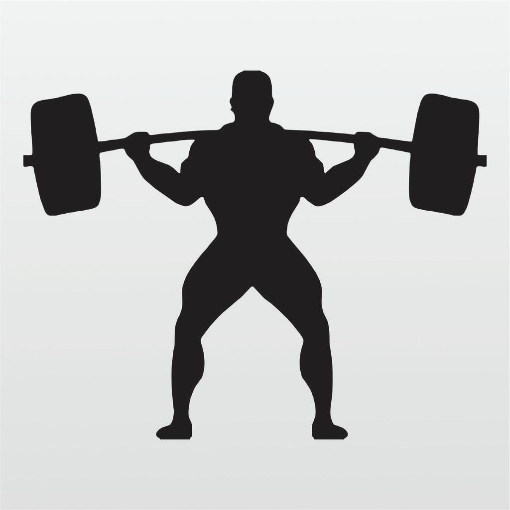 Adesivo De Parede Academia Musculacao Agachamento 90cm A099 R
