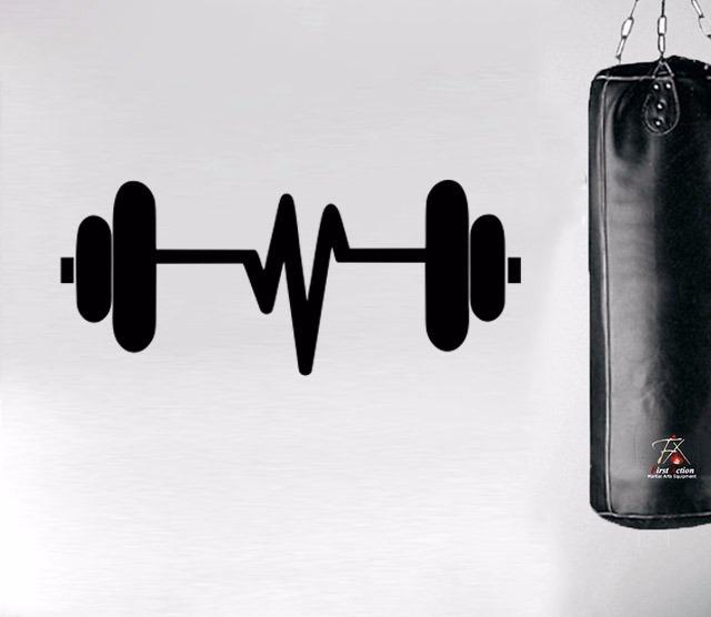 Adesivo De Parede Academia Peso Musculacao Fitness 50x115 Cm R