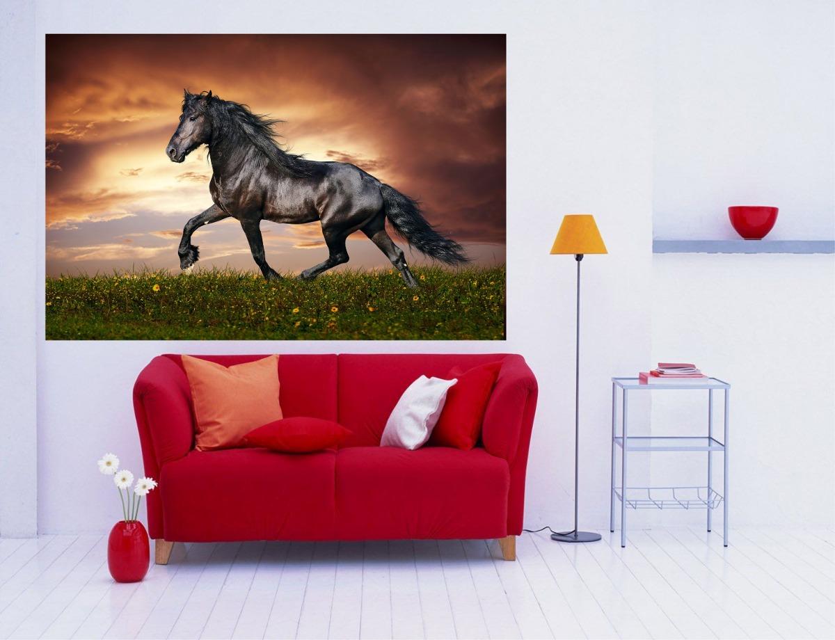 Adesivo De Parede Animais Cavalo Galopando Cowboy Aras Foto R 49  -> Fts De Cavalo Rm Adesivo Pra Quarto