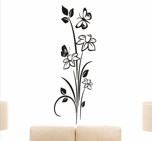 adesivo de parede arabescos abstratos musicais silhuetas