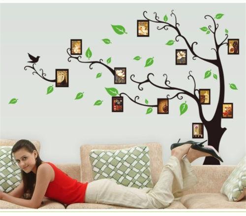Artesanato Reciclagem Decoração ~ Adesivo De ParedeÁrvore Da Vida Fotos Da Família R$ 299,00 em Mercado Livre
