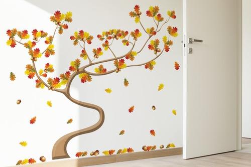 adesivo de parede árvore das castanhas - mudo minha casa