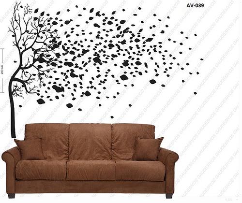 adesivo de parede arvore decorativo grande 2,00 mt vinil