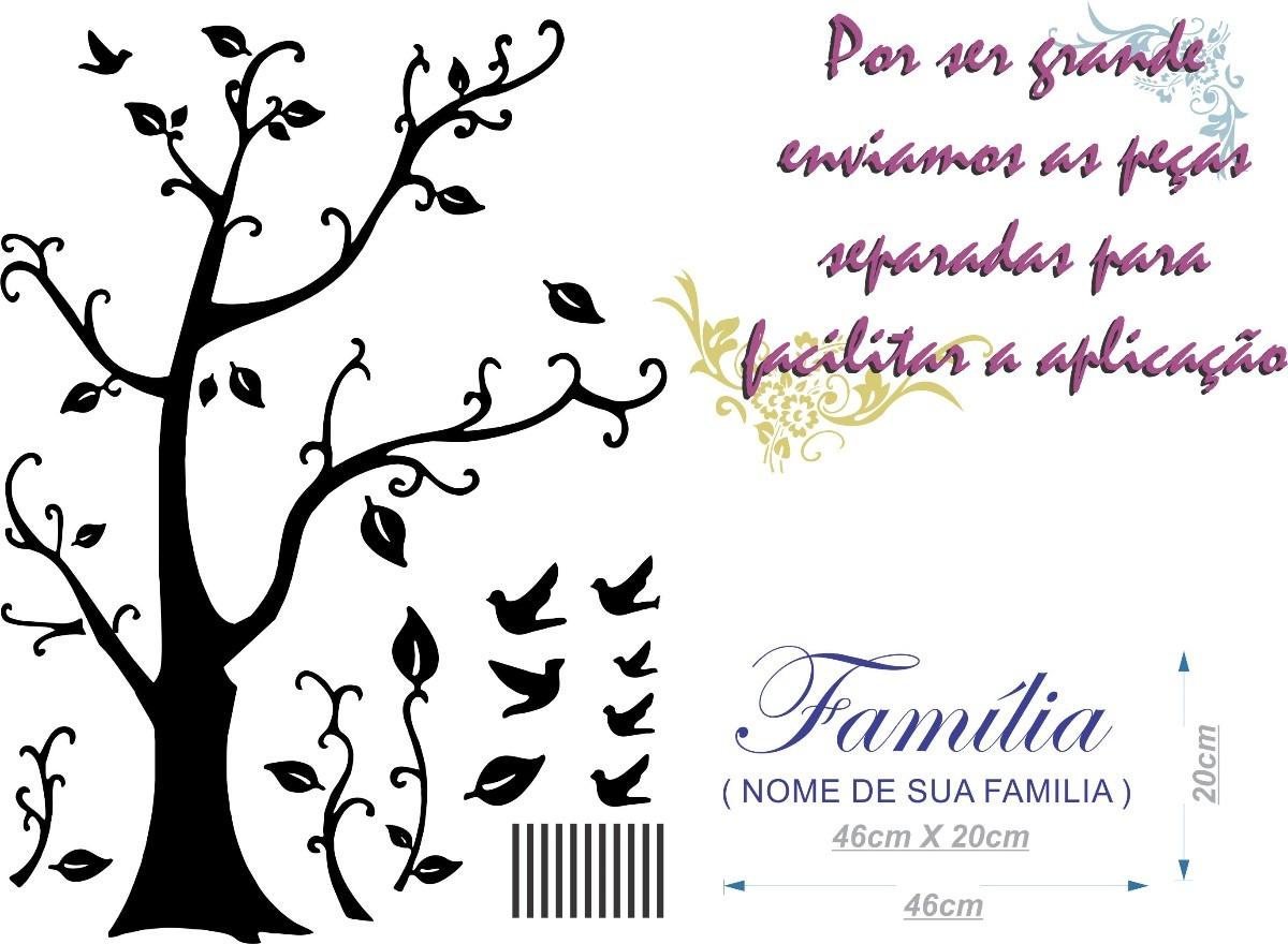 Adesivo De Parede Arvore Da Familia ~ Adesivo De ParedeÁrvore Genealógica 210 X140cm Frete Grátis R$ 99,90 em Mercado Livre