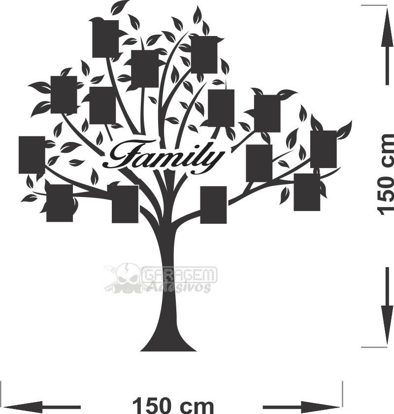 Artesanato Reciclagem Decoração ~ Adesivo De Parede Arvore Genealógica Para Fotos Da Familia R$ 65,00 em Mercado Livre