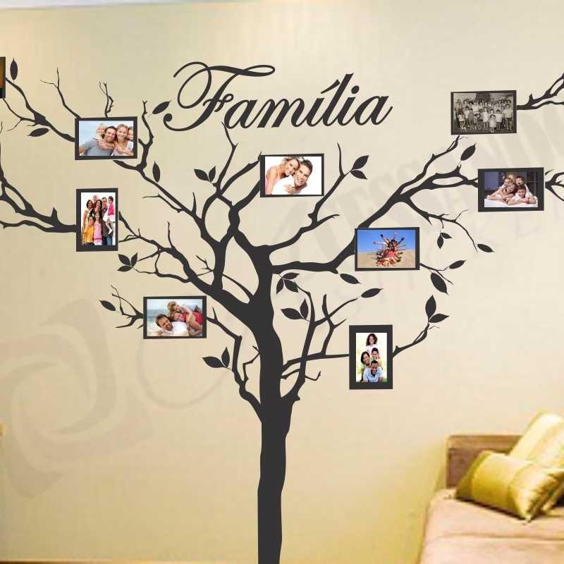 Adesivo Porta De Barbearia ~ Adesivo De Parede Arvores Porta Retrato Sua Familia R$ 119,49 em Mercado Livre
