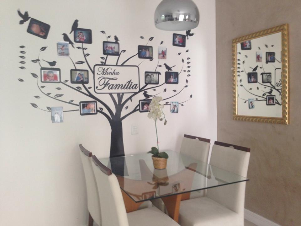 Artesanato Reciclagem Decoração ~ Adesivo De Parede Arvores Porta Retrato Sua Familia R$ 119,49 em Mercado Livre