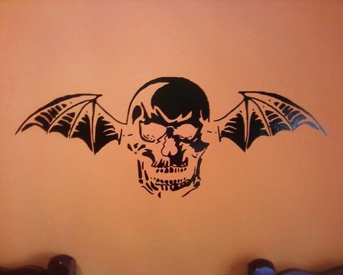 adesivo de parede avenged sevenfold deathbat quarto sala