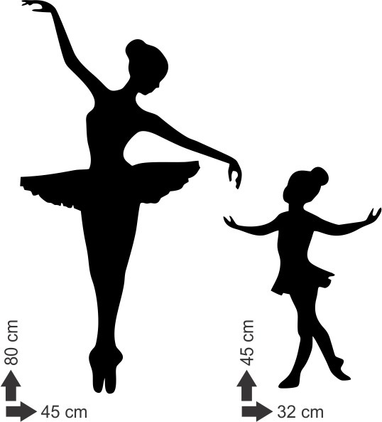 Adesivo De Parede Bailarina Bale Danca Menina Filha Mae R 42 20