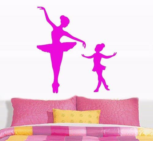 adesivo de parede bailarina balé dança menina filha mãe