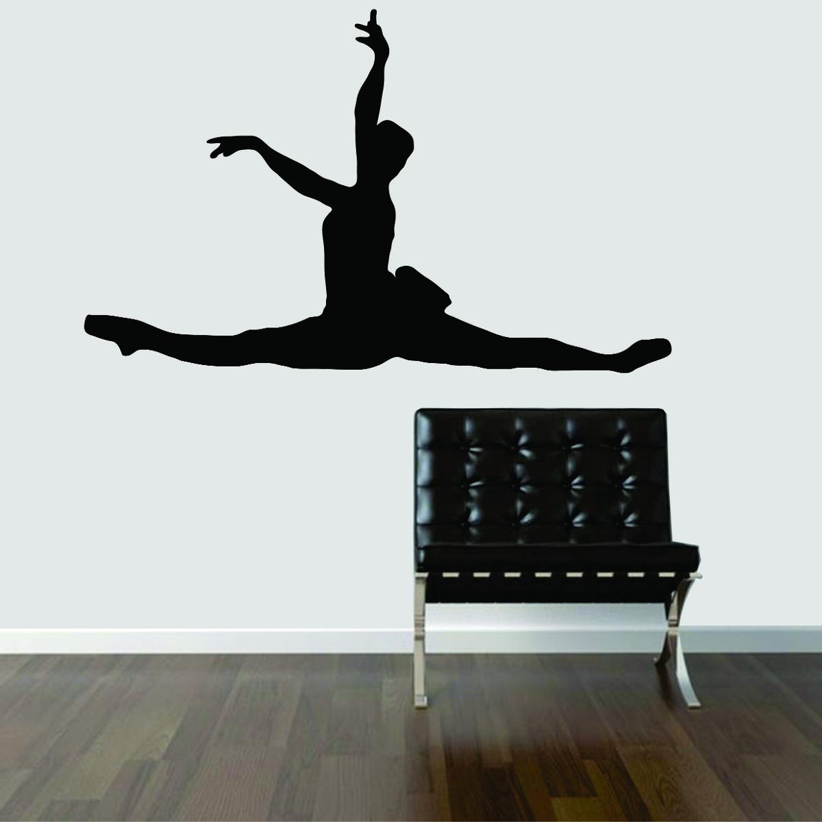 Adesivo Azulejo Pastilha Resinada ~ Adesivo De Parede Bailarina Balé Música Clássica Dança R$ 24,99 em Mercado Livre