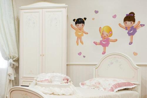 adesivo de parede bailarinas - mudo minha casa