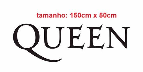 adesivo de parede banda queen rock quarto sala cozinha