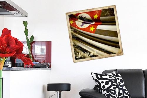 adesivo de parede bandeira de são paulo - mudo minha casa