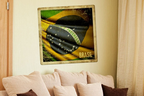 adesivo de parede bandeira do brasil - mudo minha casa
