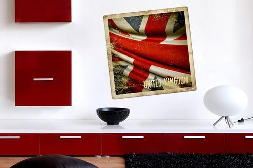 adesivo de parede bandeira do reino unido - mudo minha casa