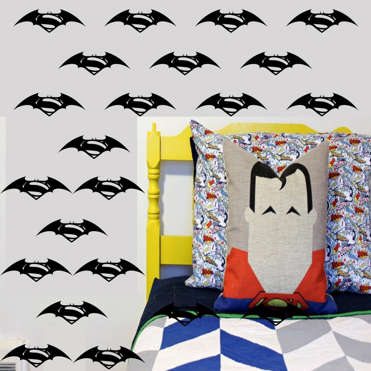 274f18a483337c Adesivo De Parede Batman Vs Superman Quarto Infantil Menino