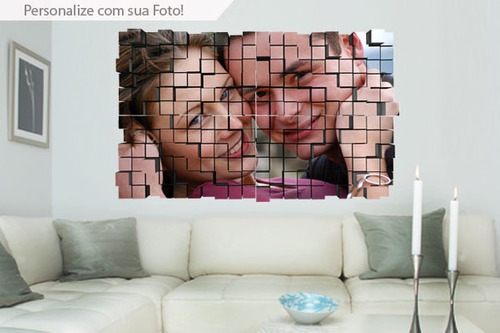 adesivo de parede block 3d - mudo minha casa