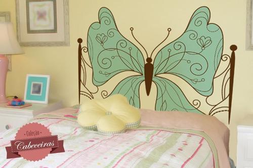 adesivo de parede cabeceira borboleta - mudo minha casa