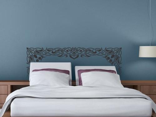 adesivo de parede cabeceira cama casal abstrato 140x46 cm