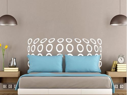 adesivo de parede cabeceira cama casal bolinhas 140x55 cm