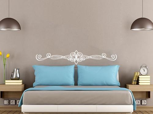 adesivo de parede cabeceira cama quarto casal 25x140 cm