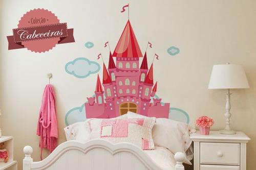 adesivo de parede cabeceira castelo - mudo minha casa