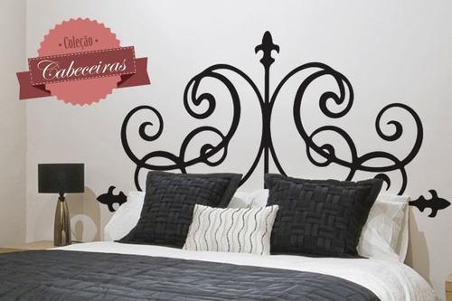 adesivo de parede cabeceira ornamental - mudo minha casa