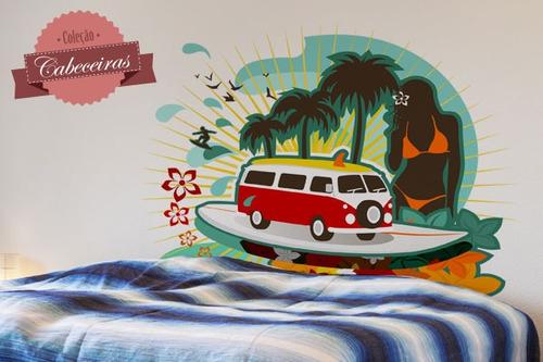 adesivo de parede cabeceira praia 2 - mudo minha casa