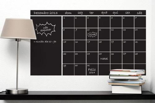 adesivo de parede calendário - mudo minha casa