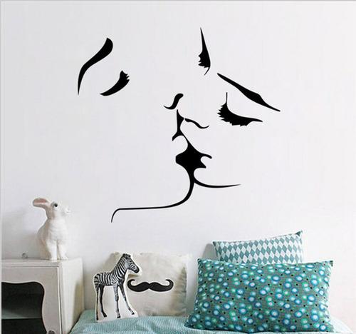 adesivo de parede casal beijo