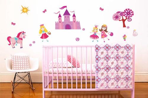 adesivo de parede castelo das princesas - mudo minha casa