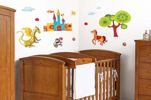 adesivo de parede cavaleiro e o dragão - mudo minha casa