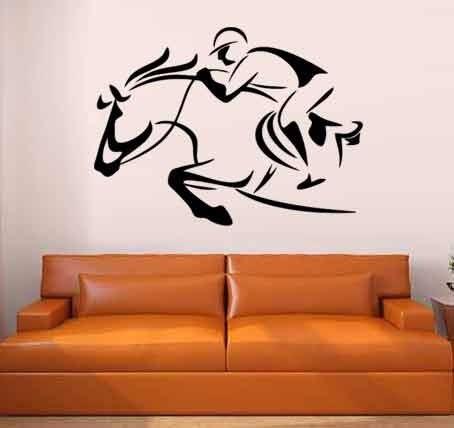 adesivo de parede cavalo hipismo 85 cm x 1,15 metro