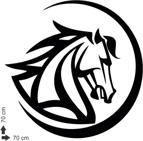 adesivo de parede cavalos hipismo mandala animal horse