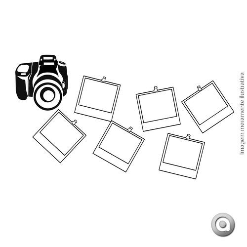 adesivo de parede cenário foto camera u 90x50 cm