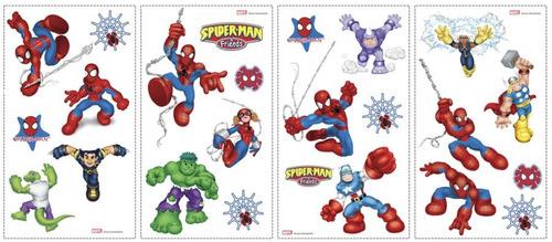 adesivo de parede coleção marvel kids cartela nº 3 importado
