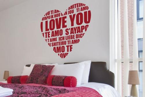 adesivo de parede coração - mudo minha casa
