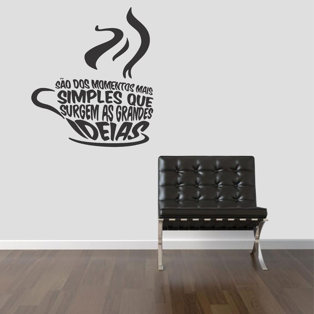 Armário Para Cozinha Em Inglês ~ Adesivo De Parede Cozinha Café Coffe Frases Ideias Palavras R$ 24,99 em Mercado Livre