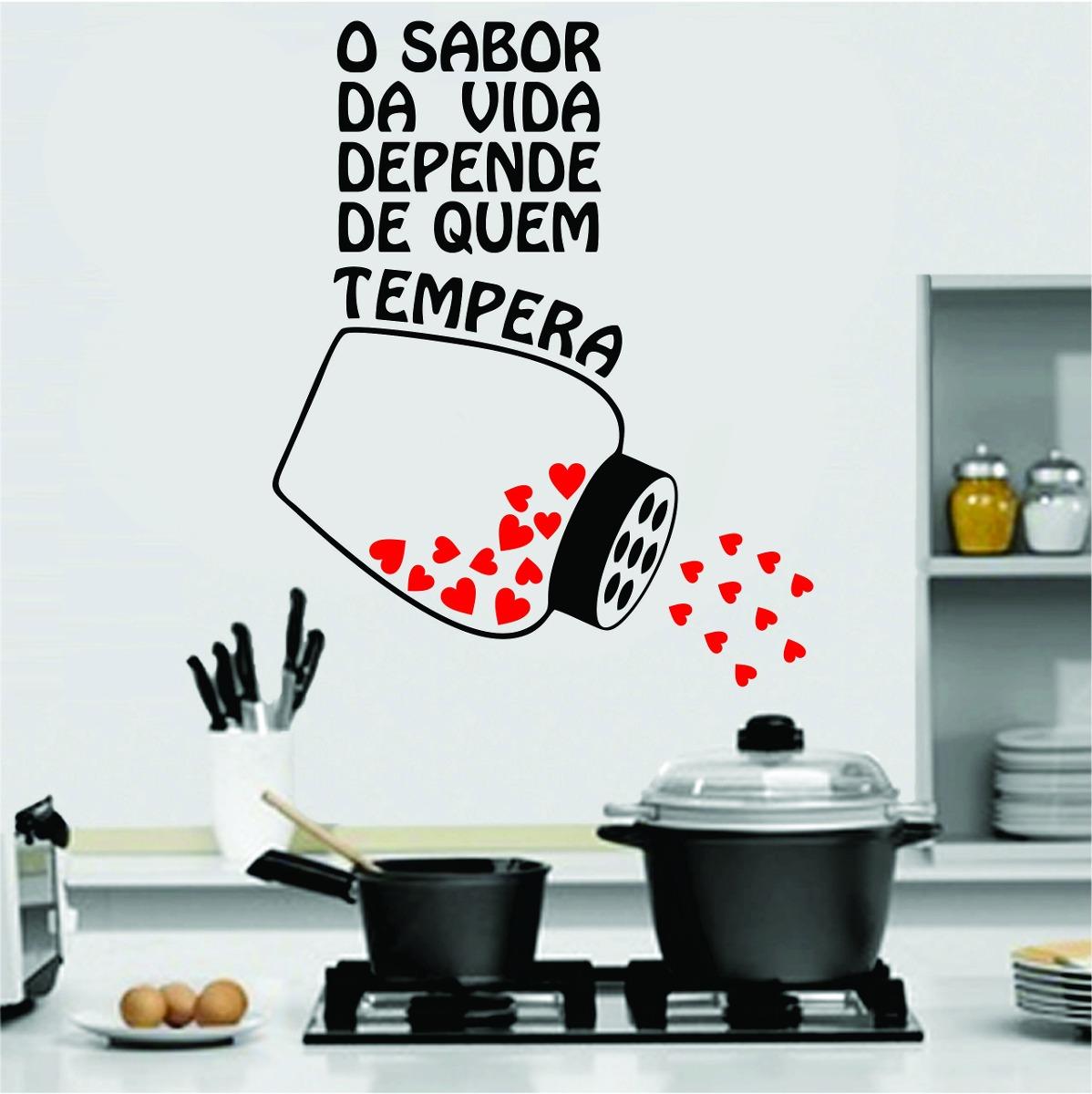 Adesivo De Parede Coruja ~ Adesivo De Parede Cozinha Geladeira Frase Coraç u00e3o Tempero R$ 29,99 em Mercado Livre