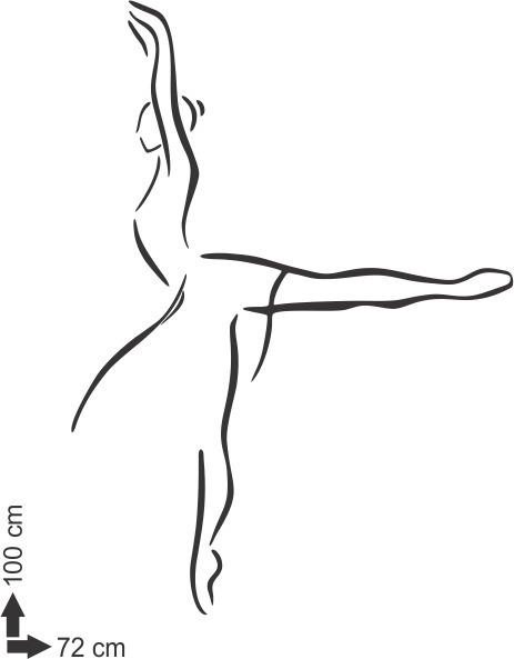 Adesivo De Parede Danca Bailarina Ballet Abstrato Menina R 53